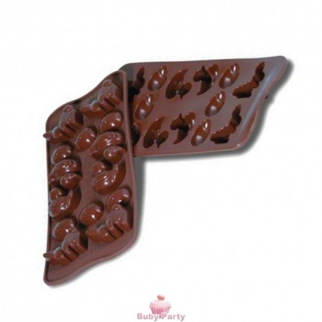 Stampo In Silicone Per Cioccolatini Pasquali Uovo Coniglio Papero Silikomart