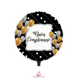 Palloncino Mylar Buon Compleanno Prestige Ø 45 Cm Big Party