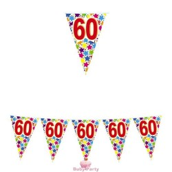 Festone Bandierine 60 Compleanno Stardust 6 mt Big Party