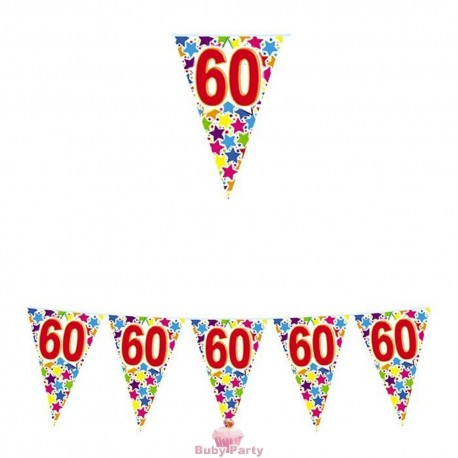 Festone Bandierine 60 Compleanno Stardust 6 mt Big Party