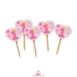 25 Picks Sagomati Primo Compleanno Rosa Big Party