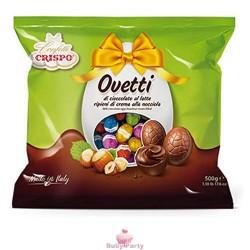 Ovetti Cioccolato A Latte Ripieni Di Crema Nocciola 500g