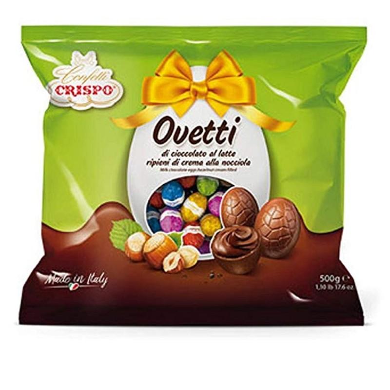 Ovetti Cioccolato A Latte Ripieni Di Crema Nocciola 500g Crispo