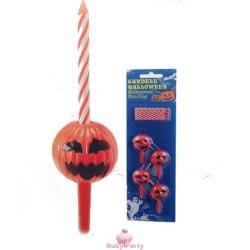 Set Candele Con Zucca Di Halloween