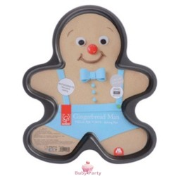 Stampo Antiaderente Forma Gingerbread Di Natale