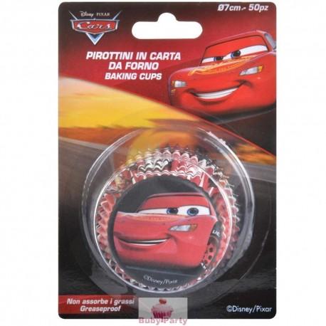 50 Pirottini Cars In Carta Forno Per Muffin E Cupcake