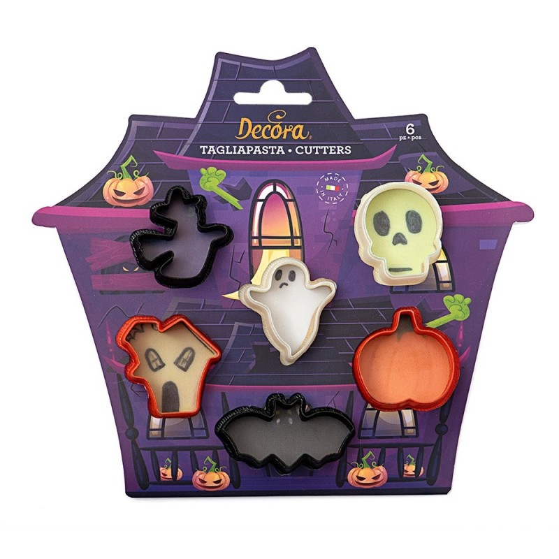 Set 6 Mini Tagliapasta Halloween Decora