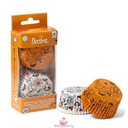 36 Pirottini Halloween Zucca E Fantasmino Ø 50X32 mm Decora