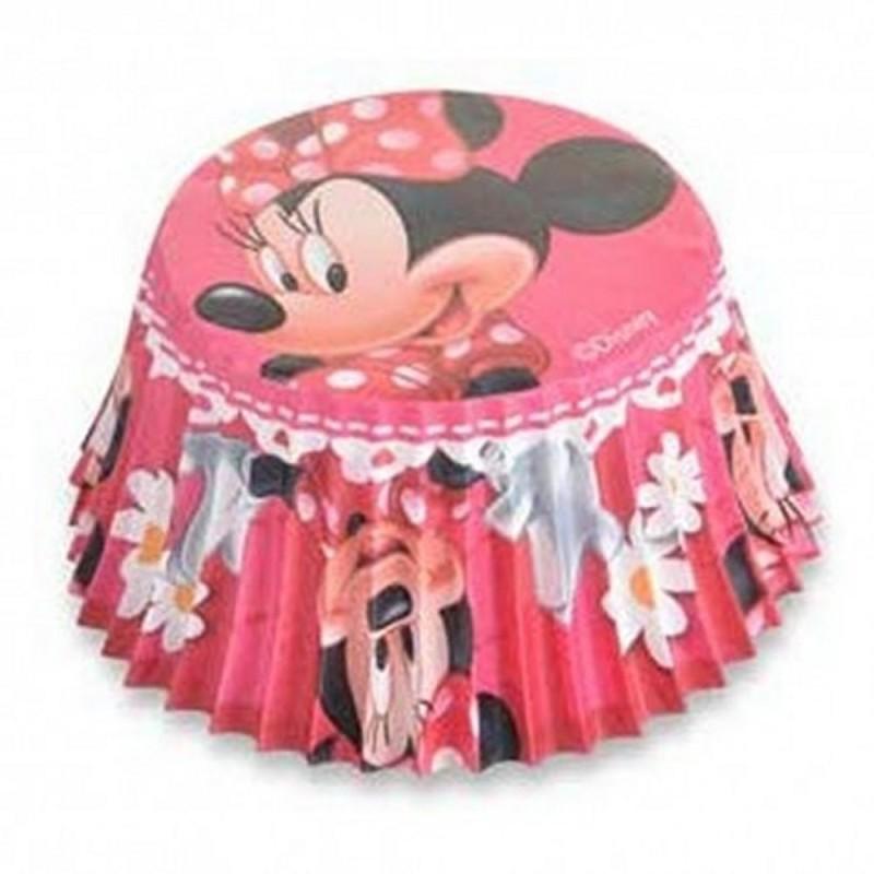 50 Pirottini Minnie In Carta Forno Per Muffin E Cupcake