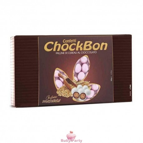 Confetti Choco Bon Rosa 1 kg Maxtris