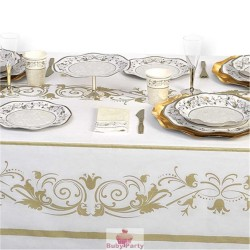 Tovaglia Natalizia Prestige Oro 140x240 Cm Magic Party