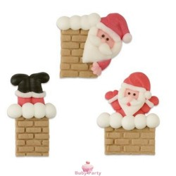 Set 3 Babbo Natale Camino In Zucchero Piatto Günthart