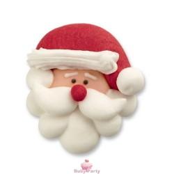Set 6 Decorazioni In Zucchero Viso Di Babbo Natale Günthart