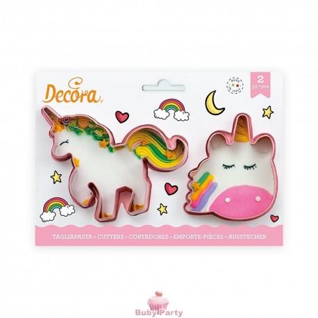 Set 2 Tagliapasta Magic Unicorns In Plastica Decora