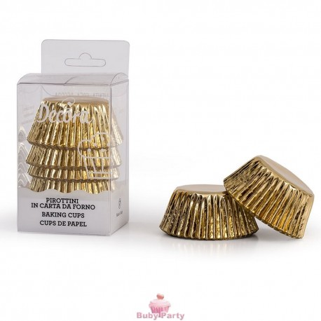 180 Mini Pirottini Oro In Carta Da Forno Decora