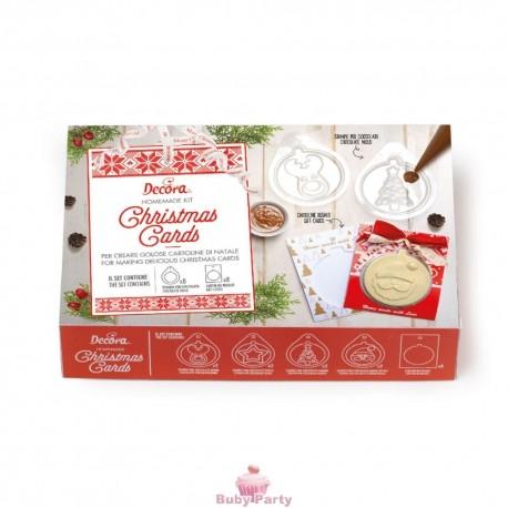 Set Homemade Christmas Card 16 Pz Decora