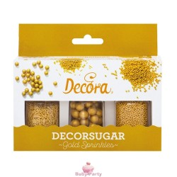 Set Decorazioni In Zucchero Golden Sprinkles Decora