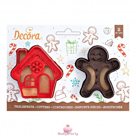 Tagliapasta Gingerbread Man & House Decora