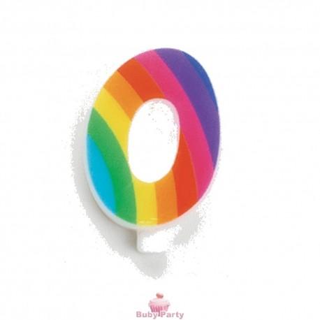 Candelina Numero Scintillante Multicolore Arcobaleno GiVi