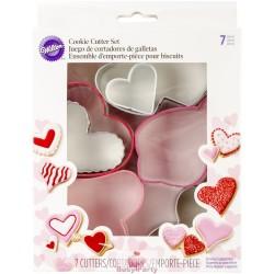Set 7 Tagliapasta Cuori San Valentino Assortiti Wilton