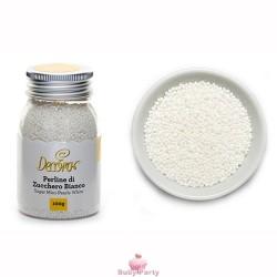 Perline Di Zucchero Decorative Bianche 100g Decora