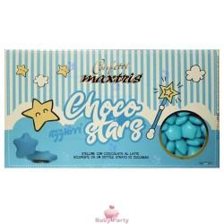 Confetti Stelline Choco Star Azzurri 500g Maxtris