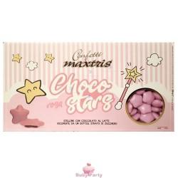 Confetti Stelline Choco Star Rosa 500g Maxtris