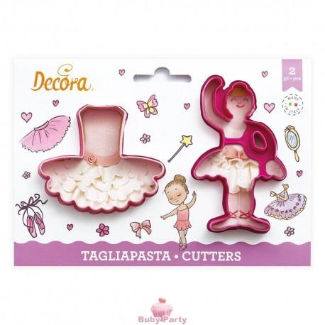 Set 2 Tagliapasta Ballerina E Tutù Decora