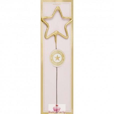 Candela Fiammella Oro Scintillante Stella
