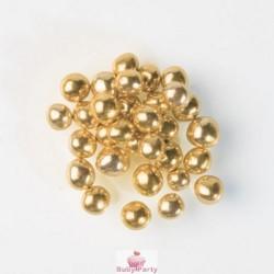 Perle Luccicanti Oro Con Cuore Cioccolato Croccante 50g Günthart