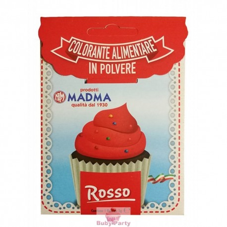 Colorante Alimentare In Polvere Rosso 5g Madma