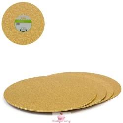 Piatto Cake Board Sottile Gold Rotondo