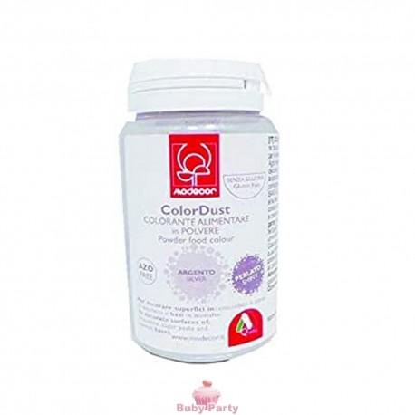 Colorante Alimentare In Polvere Argento Liposolubile 25g Modecor