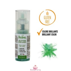 Spray Colorante Pump Glitterato Verde 10g Decora