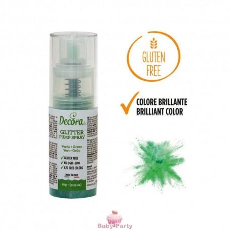 Spray Colorante Pump Glitterato Verde 10g Decora