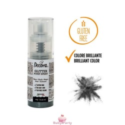 Spray Colorante Pump Glitterato Nero 6g Decora