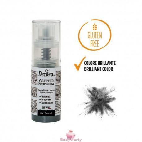 Spray Colorante Pump Glitterato Nero 6g Decora