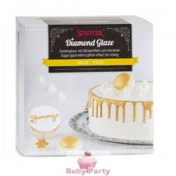 Glassa Allo Zucchero Da Montare Con Effetto Brillante Oro 70g