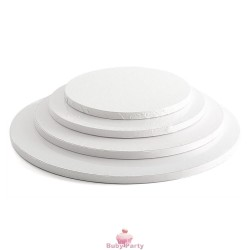 Piatto Cake Board Tondo Bianco Bordo Alto 1,2 cm