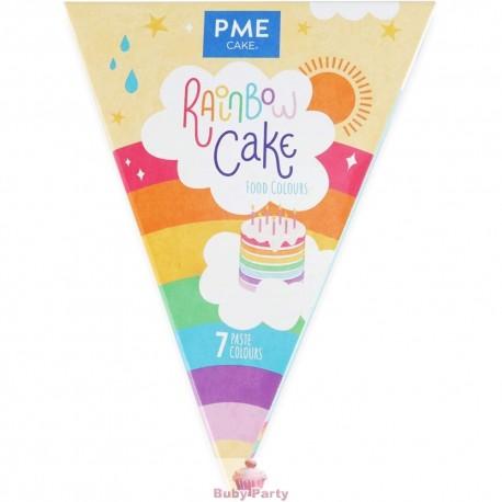 Set 7 Coloranti Alimentari Rainbow Cake PME