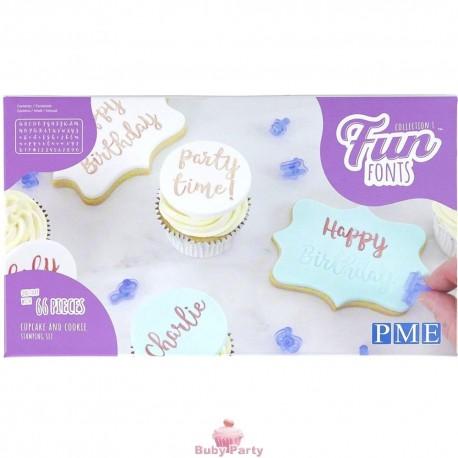 Fan Fonts Set Di Stampaggio Per Cupcake E Biscotti PME