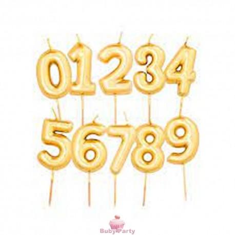 Candelina Numero Oro Per Torta Compleanno Gi.Vi.