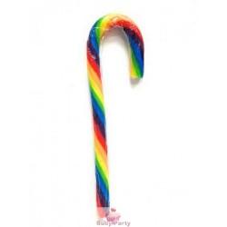 10 Bastoncini In Zucchero Candy Cane Multicolore 15g
